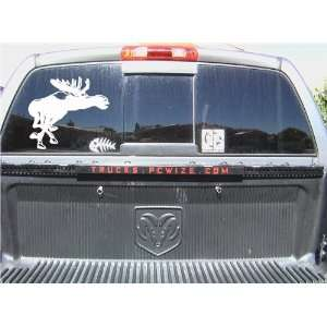 MOOSE DEER HUNTING WINDOW STICKER DECAL 10X10