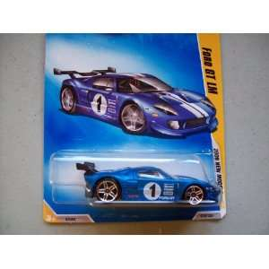 Hot Wheels 2009 New Models Blue Ford GT LM Toys & Games