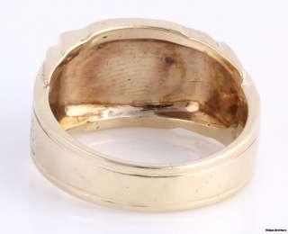 Blue Lodge Masonic Vintage Band   10k Solid Yellow White Gold Ring