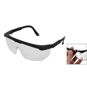 Como Clear Wide Lens Plastic Black Frame Windproof Goggles
