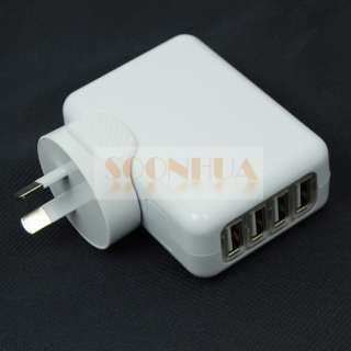 Ports USB Universal World Travel Power Charger Adapter AU/UK/US/EU