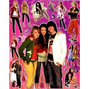 Hannah Montana 2 MILEY CYRUS Sticker Sheet BL287