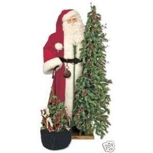 57 Ditz Father Christmas Santa w/ pre lit tree toys