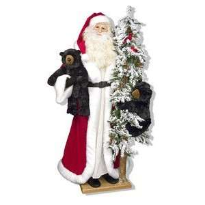 57 Ditz Father Christmas Santa Statue and Snowy Tree