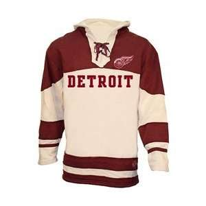 Old Time Hockey Detroit Red Wings The Road Lace Hooded