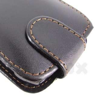For Nokia E6 E6 00 , Leather Case Pouch Cover Film h_Black
