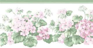 Geranium Country Garden Wallpaper Border