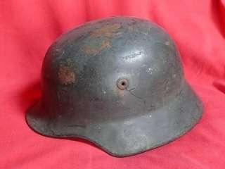 WW2 or POST M 2 GERMAN ARMY BLACK STEEL HELMET Rolled Edge Stamped