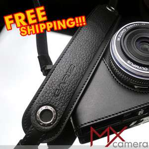New Black Leather Strap XA CHLSNBK fit NEX GF m4/3 DSLR camera