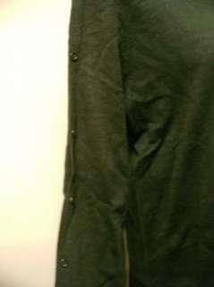 Nina Leonard Mockneck Long Sleeve Top w/Button Detail L