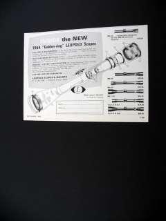 Leupold Golden ring Scopes gun scope 1964 print Ad