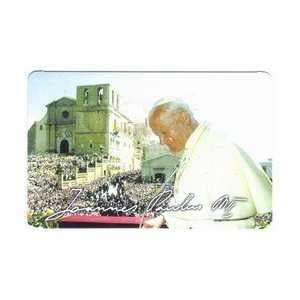 Collectible Phone Card Pope John Paul II Holy Father Smiling & Scene