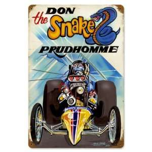 Prudhomme The Snake Automotive Vintage Metal Sign   Garage