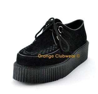 DEMONIA V CREEPER 502S Gothic Punk Vegan Mens Shoes
