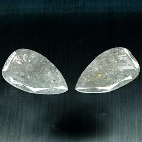 17.98 Cts. Natural White Grey Color Pear Cut Diamond