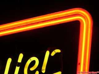 Vintage Miller Genuine Draft Beer Brew Neon Sign Misspelled Everbrite