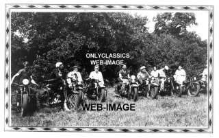 1940 HARLEY DAVIDSON INDIAN MOTORCYCLE CLUB GROUP PHOTO
