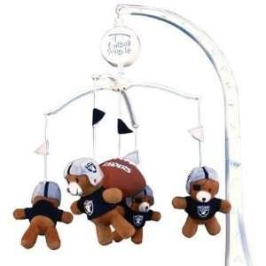 Raiders Baby Crib Team Mascot Mobile NFL Football