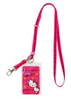 NEW SANRIO HELLO KITTY ID NAME TAG BADGE HOLDER LANYARD