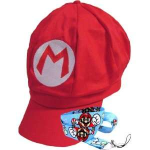New Super Mario Bros Red Hat and Lanyard Toys & Games