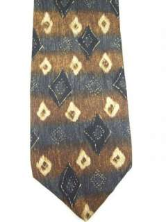 Axis Black Brown Tan Abstract Silk Tie NWOT Necktie