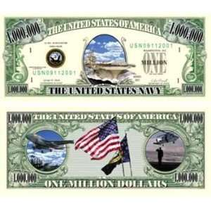 Us Navy Million Dollar Bills Case Pack 100 Toys & Games