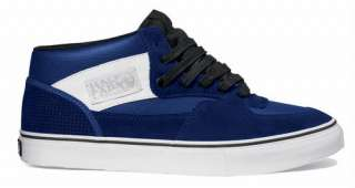 Vans Half Cab Pro Mid Blue White Black Skateboarding Skate Shoes New