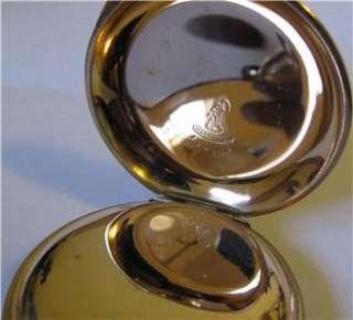 Antique 18 Size Hamden Hunter Case Pocket Watch Heavy Gold Filled