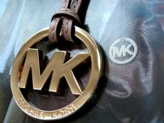 New Michael Kors MK Polished Gold, Tan Hang Tag / Charm
