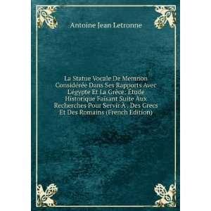 Vocale De Memnon Considérée Dans Ses Rapports Avec Légypte