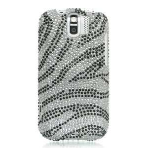 Diamond Crystal Case for HTC MyTouch Slide / Silver Zebra Electronics