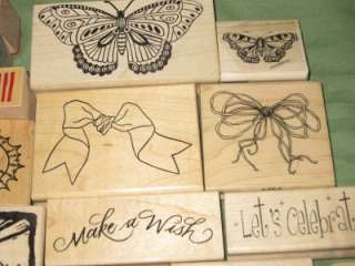 Stampin Up HUGE LOT ASSORTED RUBBER STAMPS HERO ARTS ETC