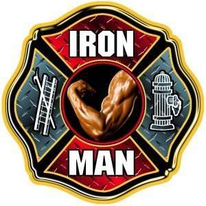 Plate Iron Man Muscle Arm Exterior Window Decal