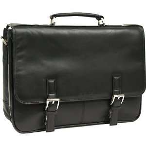 Kenneth Cole 5 Black Leather Laptop Case   Brand New in Retail