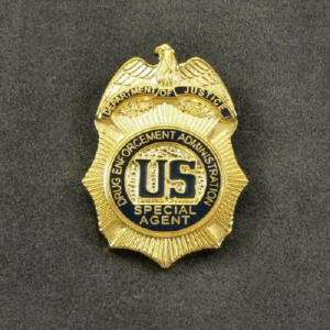 DEA Drug Enforcement Special Agent Mini Badge Pin Tac