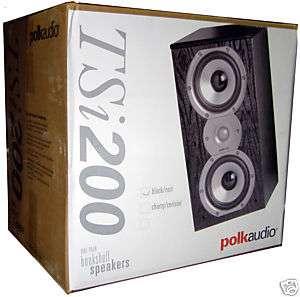 Polk Audio TSi200 Black High Performance Speakers 747192118280