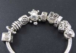 Wholesale 100p Mix Tibetan Silver Spacer Beads Fit European Charm
