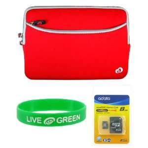 MSI Wind U100 10 Inch Netbook Neorpene Sleeve Case and 8 GB Micro SDHC