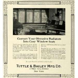 1922 Ad Tuttle Bailey Decorative Radiator Metal Grilles