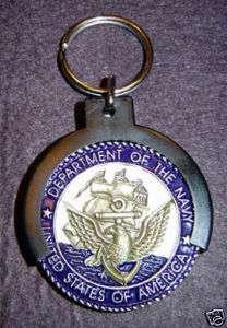 Military CHALLENGE COIN Holder Key Chain CHAMP