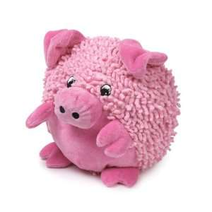 Zanies 8 Inch Moppy/Plush Barnyard Tubbie Dog Toy, Pig: Pet Supplies