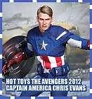 HOT TOYS THE AVENGERS 2012 CAPTAIN AMERICA CHRIS EVANS MARVEL 1/6 NEW