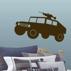Brown Large Military Humvee HMMWV Wall & Window Decal