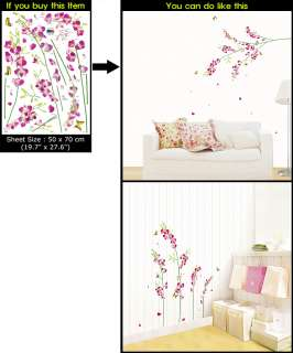 ORCHID FLOWER Art Deco Wall/Window Sticker PS58184