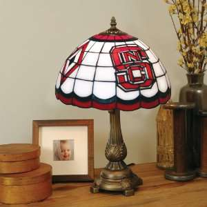 State University Stained Glass Mission Style Lamp