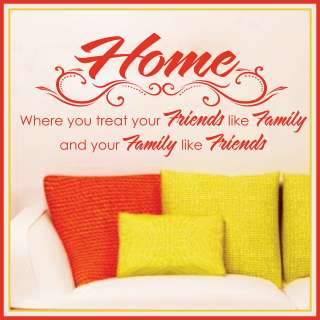 FRIENDS * FAMILY *** Vinyl Wall Decor Mural Quote Decal Saying