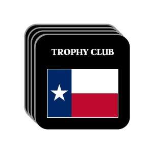 State Flag   TROPHY CLUB, Texas (TX) Set of 4 Mini Mousepad Coasters