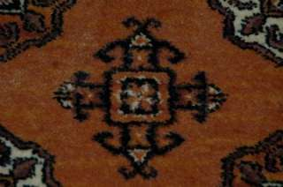Vintage Karastan Bokhara Rug 5 9 x 9 Burnt Orange 100% Wool Pattern