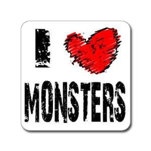 I Love Heart MONSTERS   Window Bumper Laptop Sticker