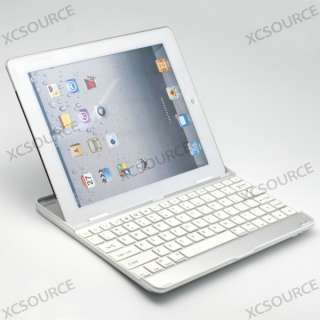 Bluetooth Wireless KeyBoard Dock Stand White for iPad 2 IP23